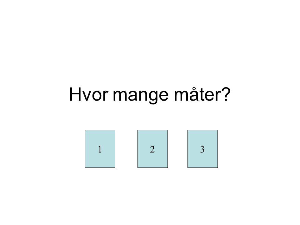 Oppgave 2 Tre tall, kan gjentas, hvor mange tresifrede tall kan lages.
