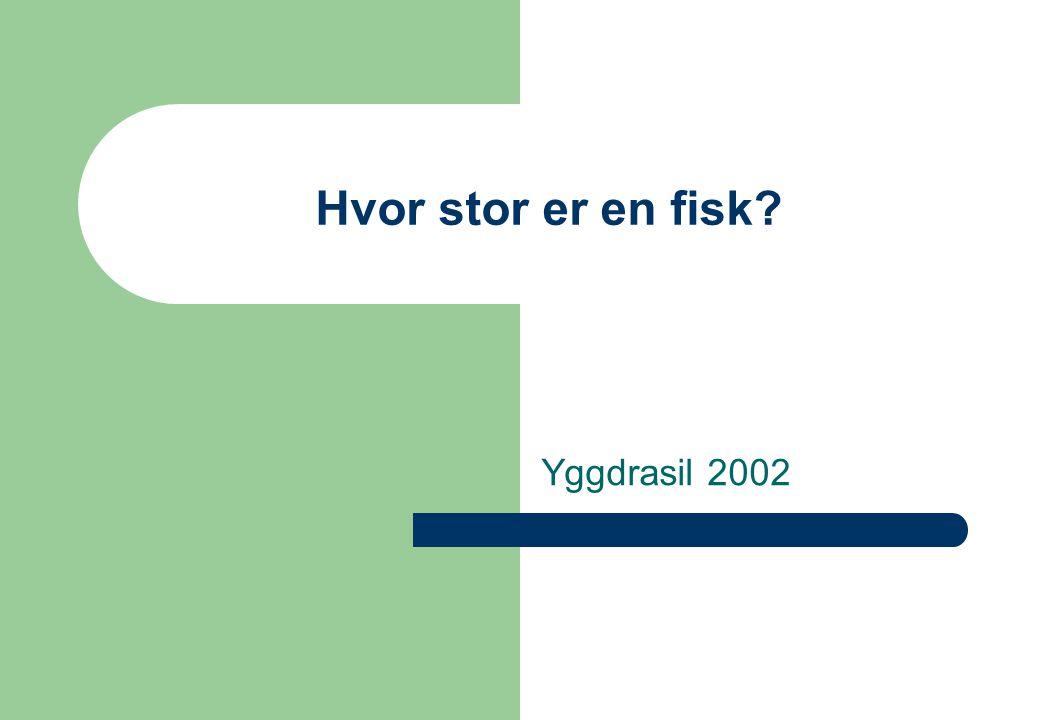 www.kvadsheim.no/yggdrasil/fisk.htm 2 Hvor stor er en fisk.