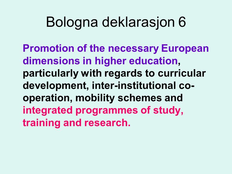 European Higher Education Area (EHAE) •Skal femme universitetenes uavhengighet og autonomi.