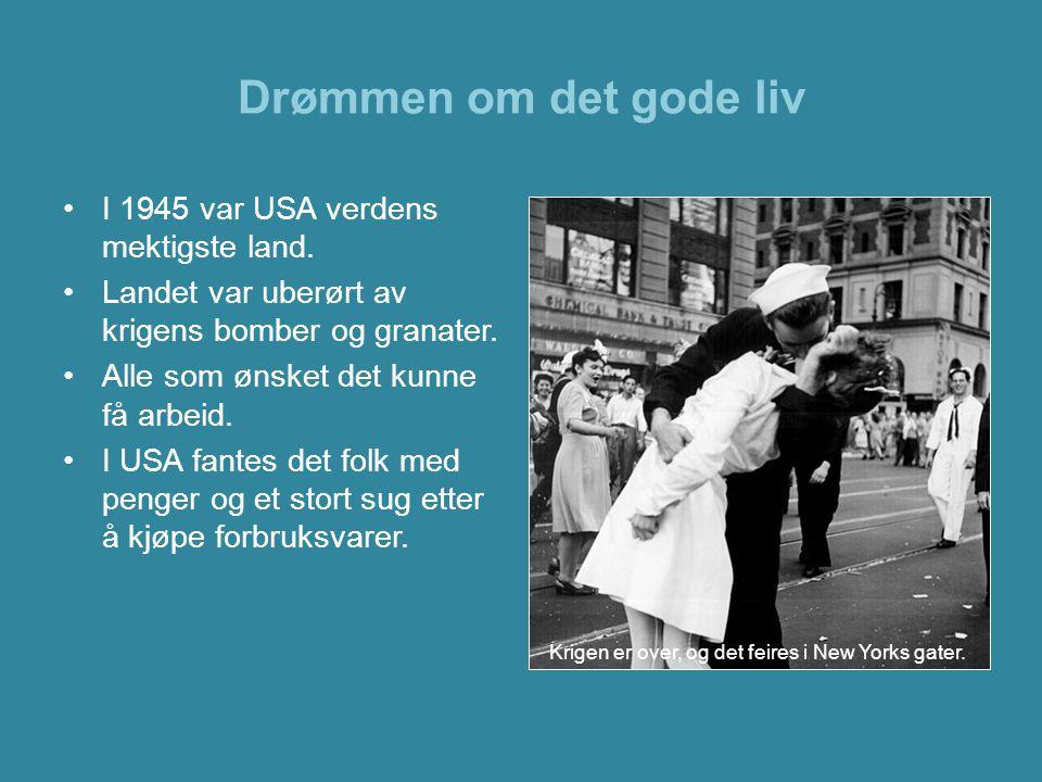 Drømmen om det gode liv •I etterkrigstiden bosatte stadig flere seg i byenes forsteder.