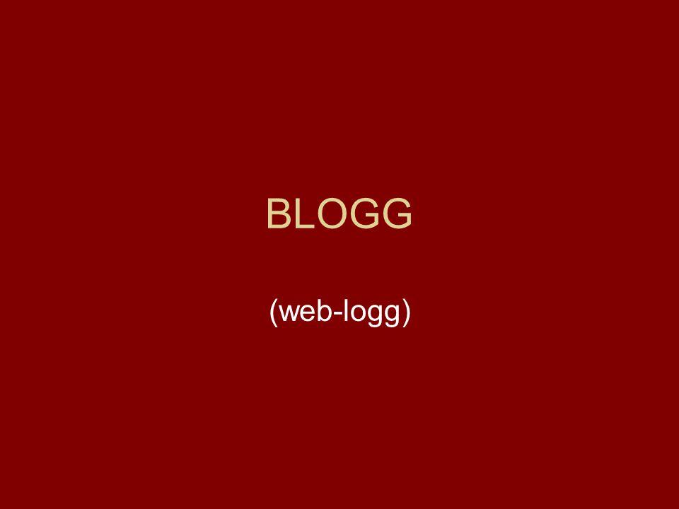 BLOGG (web-logg)