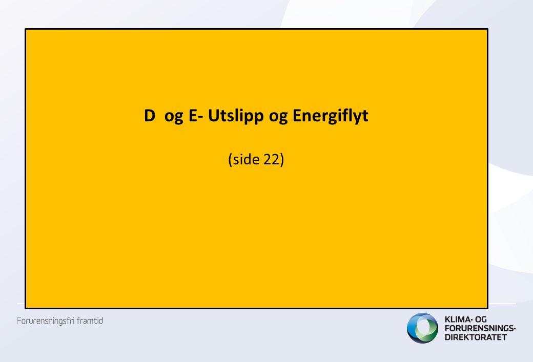 D og E- Utslipp og Energiflyt (side 22)