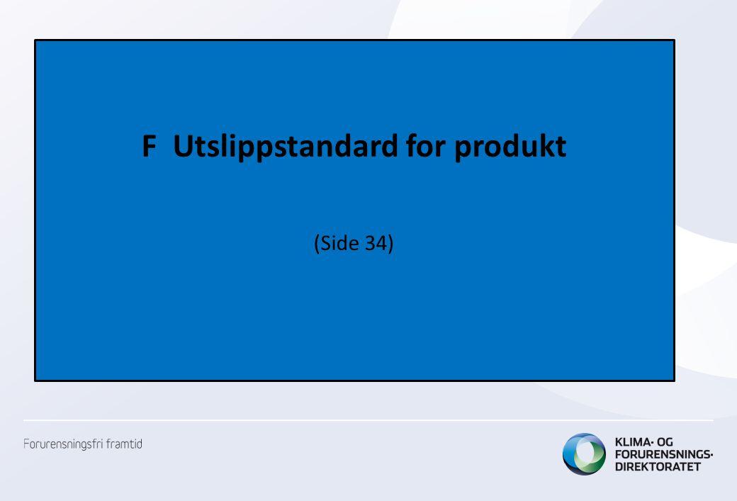 F Utslippstandard for produkt (Side 34)