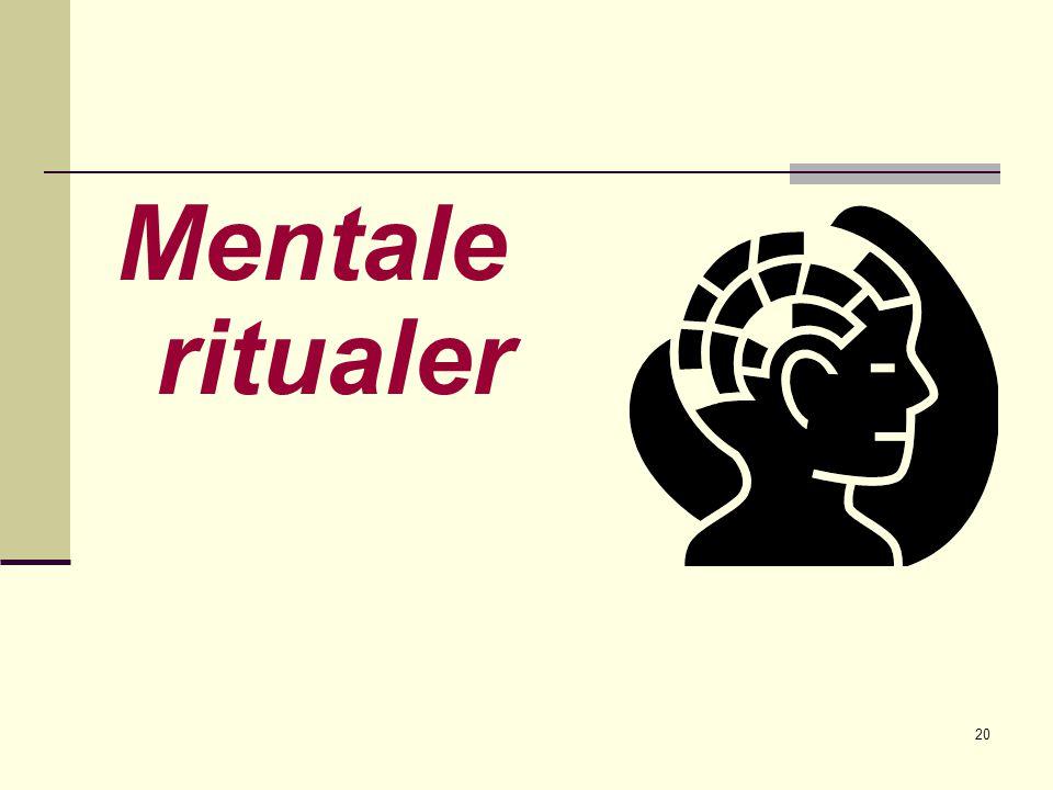 20 Mentale ritualer