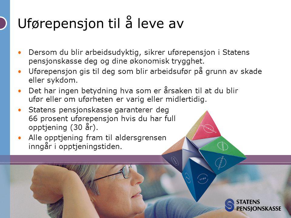 Statens pensjonskasse uførepensjon
