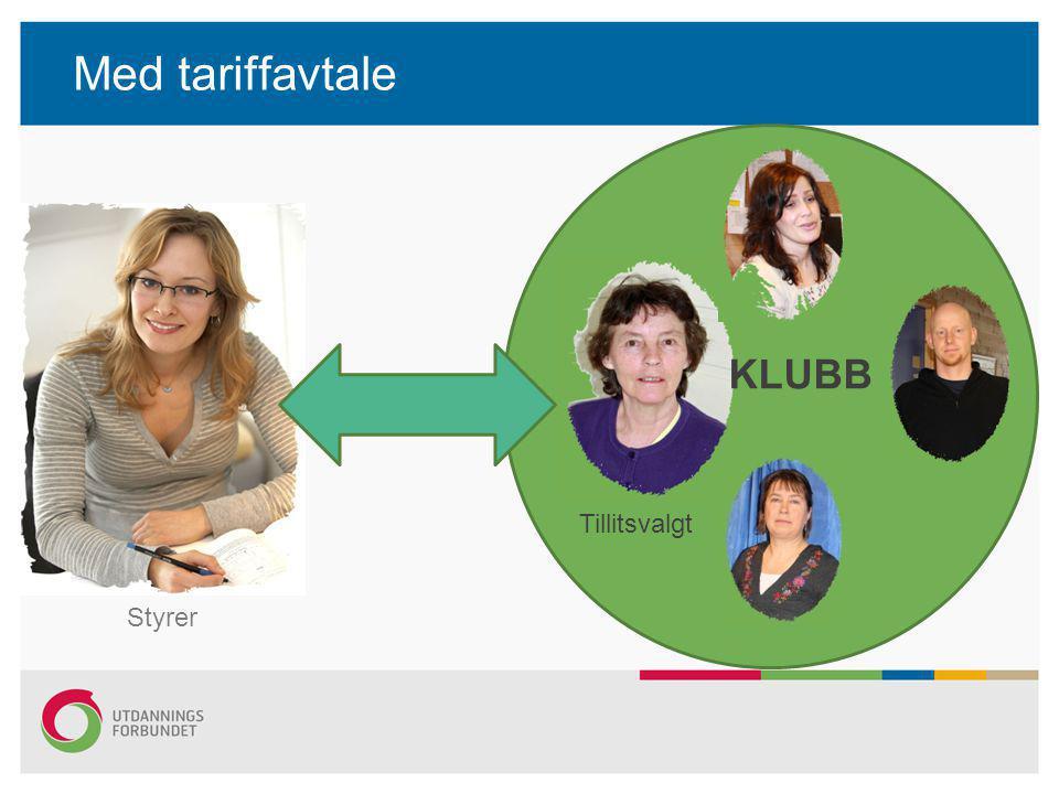 Med tariffavtale Styrer KLUBB Tillitsvalgt
