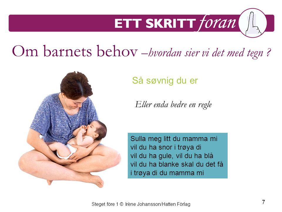 Steget före 1 © Irène Johansson/Hatten Förlag 8 Sulten i magen.