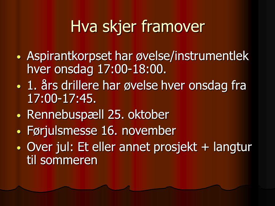 Ranheim Skolemusikkorps Kontingent • Drill 400,- • Aspirant 600,- • Hovedkorps 750.-