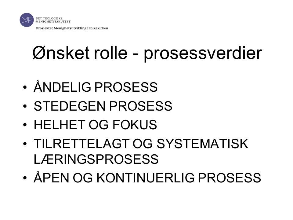 Ønsket rolle - prosessverdier •ÅNDELIG PROSESS •STEDEGEN PROSESS •HELHET OG FOKUS •TILRETTELAGT OG SYSTEMATISK LÆRINGSPROSESS •ÅPEN OG KONTINUERLIG PROSESS 19.06.2014