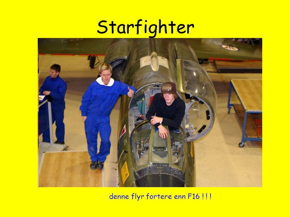 Starfighter denne flyr fortere enn F16 ! ! !