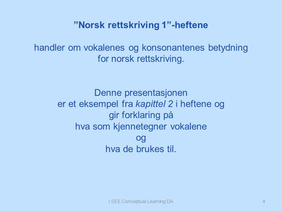 15 2.4 Oppgave Hvor mange vokaler er det i det norske alfabetet.