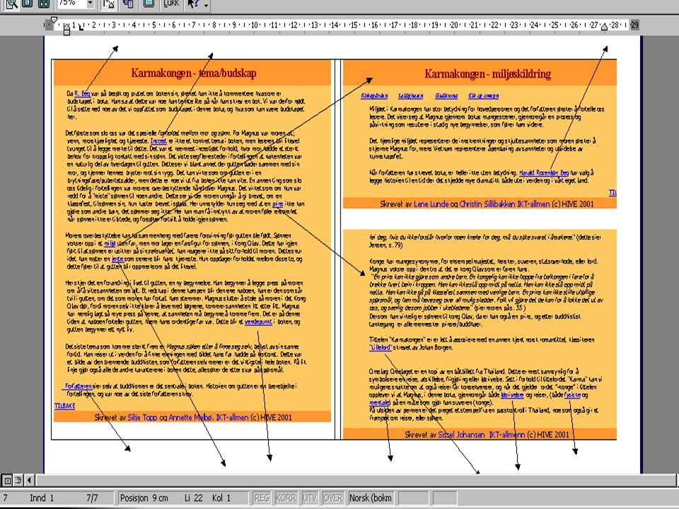Hvilke muligheter gir hypertekstprinsippet i arbeid med tekster?  Prosjektpresentasjon ( HYPTUNG-prosjektet) HYPTUNG-prosjektet  Digital tidslinje (