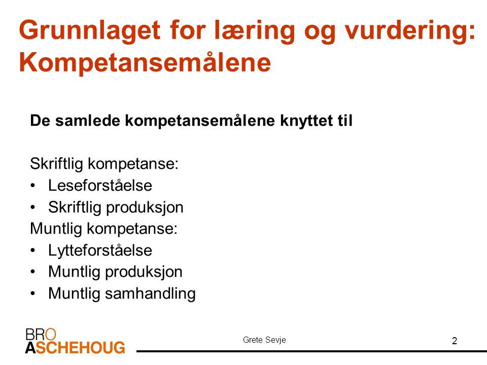 Grete Sevje 23 Eksempel (1) på eksamensoppgave Lytteforståelse - info til eleven Lytteoppgaven er individuell.