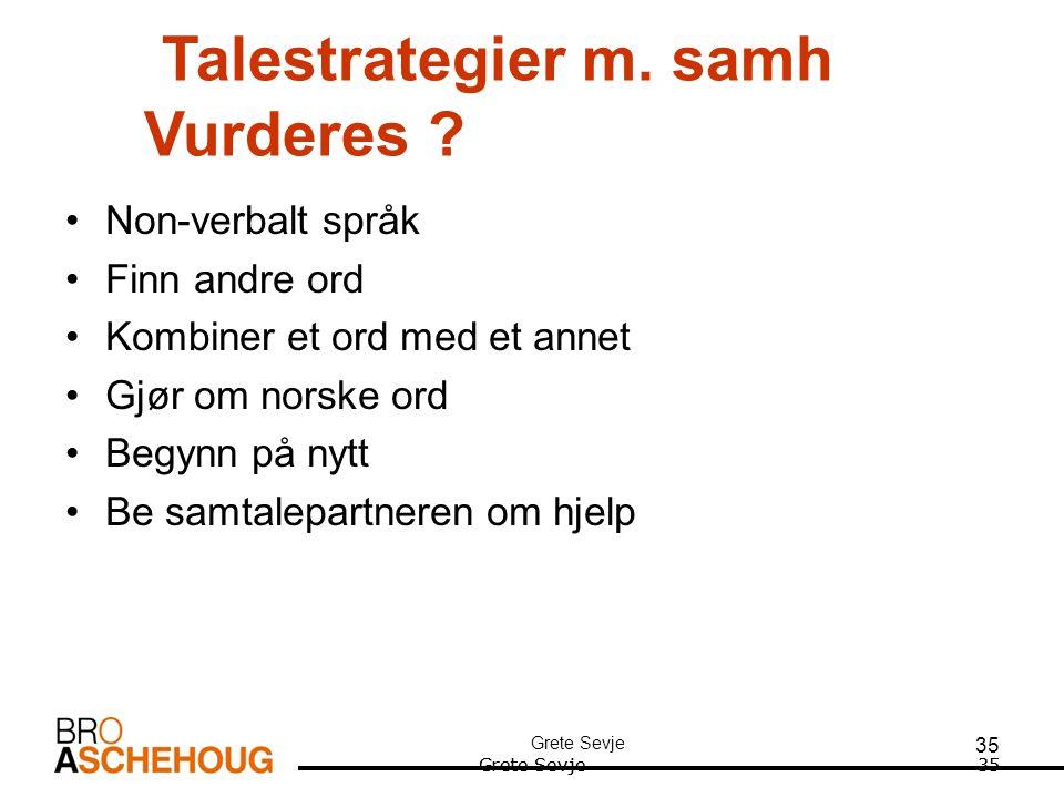 35 Talestrategier m.samh Vurderes .