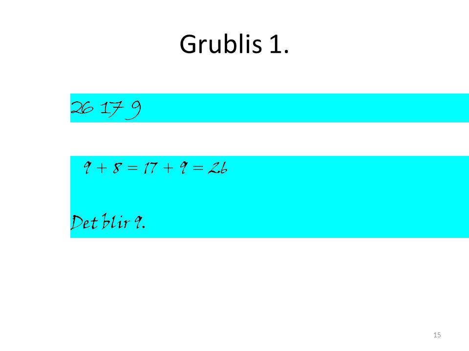 Grublis 1. 15