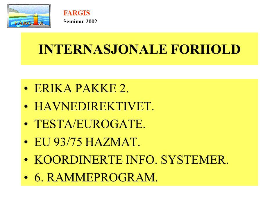 INTERNASJONALE FORHOLD •ERIKA PAKKE 2. •HAVNEDIREKTIVET.