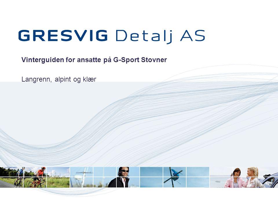 Vinterguiden for ansatte på G-Sport Stovner Langrenn, alpint og klær
