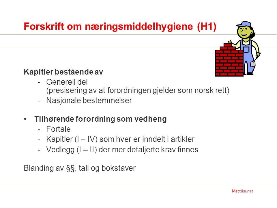 Mer informasjon om Hygienepakken Tekstene (forordninger og veiledningsdokument): -www.mattilsynet.no klikk regelverk – hygienepakken eller høringerwww.mattilsynet.no -www.lovdata.no(når regelverket kommer)www.lovdata.no -www.europa.eu.int/eur-lex/lex/en/index.htmwww.europa.eu.int/eur-lex/lex/en/index.htm alle forordningene (også endringer) søk også konsoliderte utgave -http://ec.europa.eu/food/food/biosafety/hygienelegislation/guide_en.htmhttp://ec.europa.eu/food/food/biosafety/hygienelegislation/guide_en.htm Guidance Documents - EU-kommisjonens veiledningsdokumenter (tre av dem er også oversatt til norsk – se første pkt.
