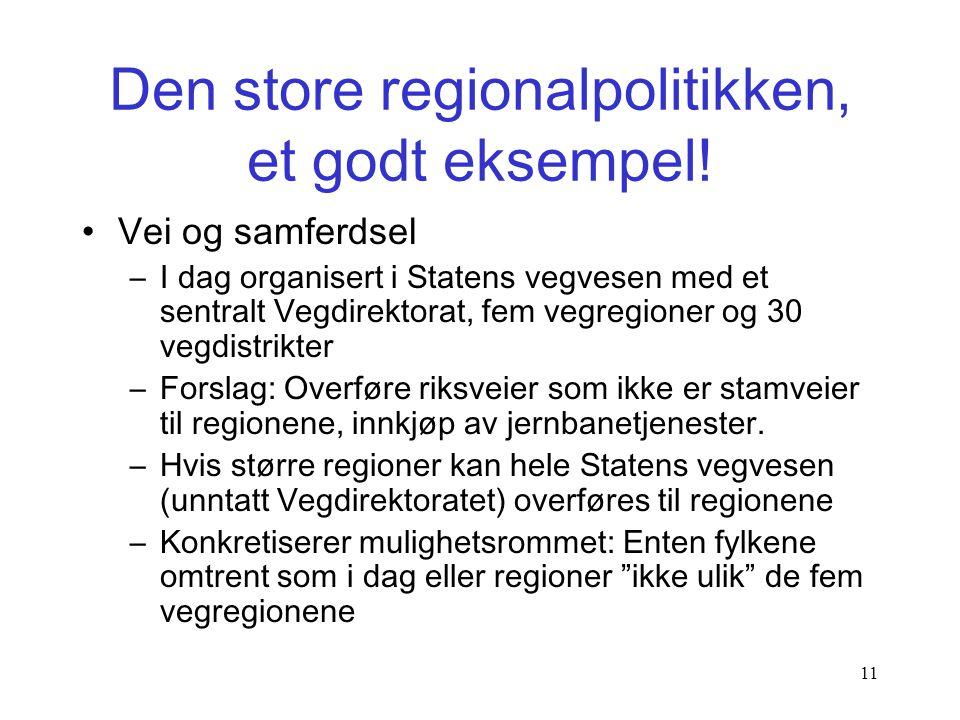 """10 Den lille regionpolitikken, et dårlig eksempel •Planlegging, """"sterkere og mer fleksibel!"""" •Innovasjon Norge, """"medeierskap"""" •SIVA, """"foreslår"""" at org"""