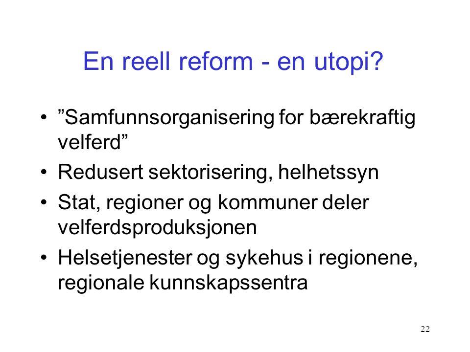 """21 Morgendagens regioner 1.Fylkene 2.Landsdelssamarbeid, frivillige samarbeid mellom fylker, om lag som i dag 3.""""Regionkommuner"""", regioner som slår se"""