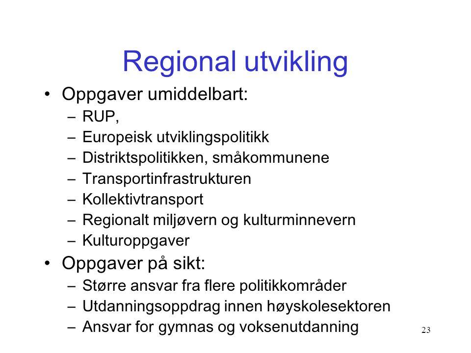 """22 En reell reform - en utopi? •""""Samfunnsorganisering for bærekraftig velferd"""" •Redusert sektorisering, helhetssyn •Stat, regioner og kommuner deler v"""