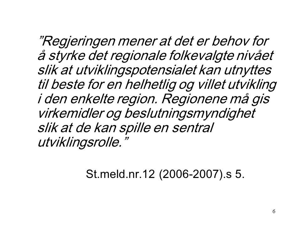 26 SOU 2007:10: Hållbar samhällsorganisation med utvecklingskraft.