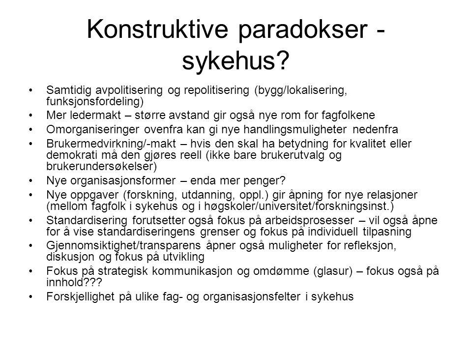 Konstruktive paradokser - sykehus.