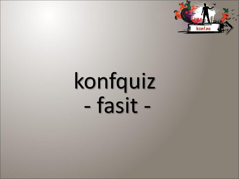 konfquiz - fasit - konfquiz - fasit -