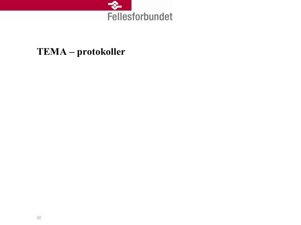 TEMA – protokoller 58