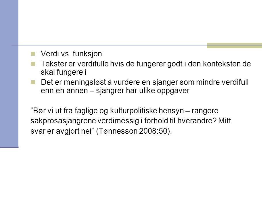 Kilder Goga, Nina (2005): En stemme fra et klasserom som ikke finnes. I: Arne Johannes Aasen og Sture Nome (red): Det nye norskfaget.