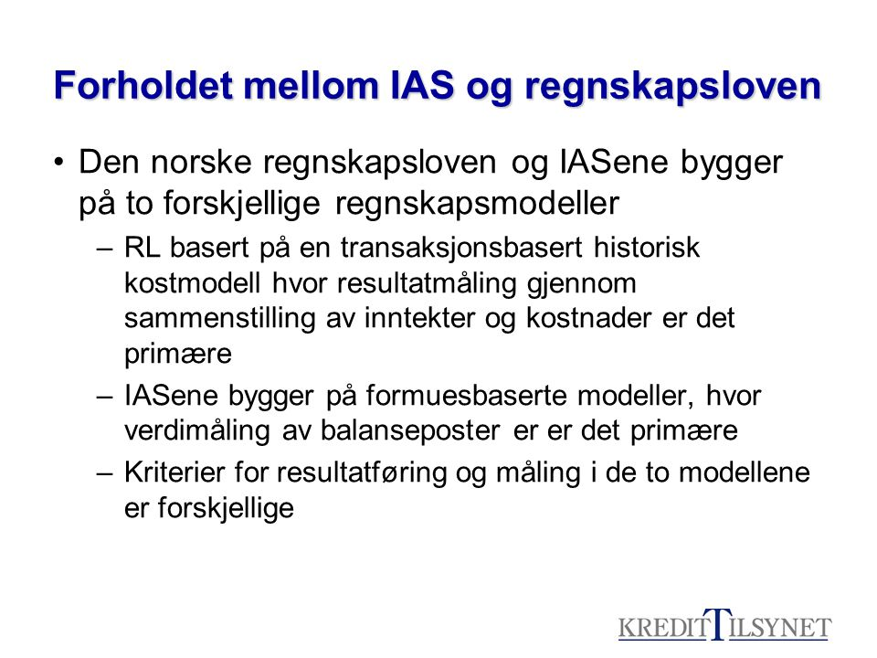 Vurdering av internrevisjonen •Utgangspunkt: IK forskrift og Basel prinsippene •Kriteriene danner en selvstendig vurdering av IR-funksjonen.