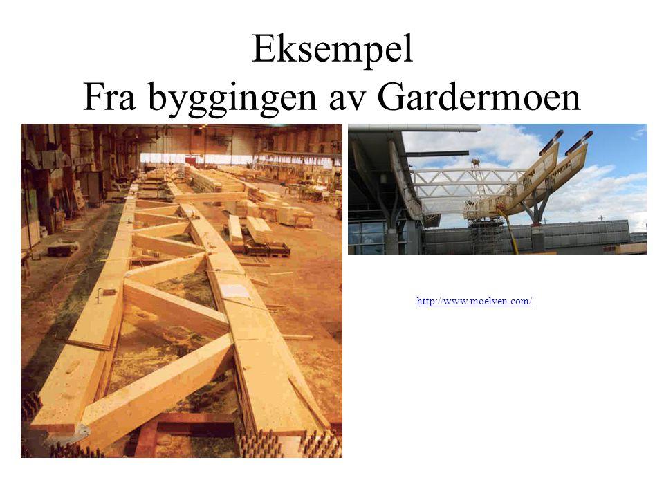 Eksempel Fra byggingen av Gardermoen http://www.moelven.com/