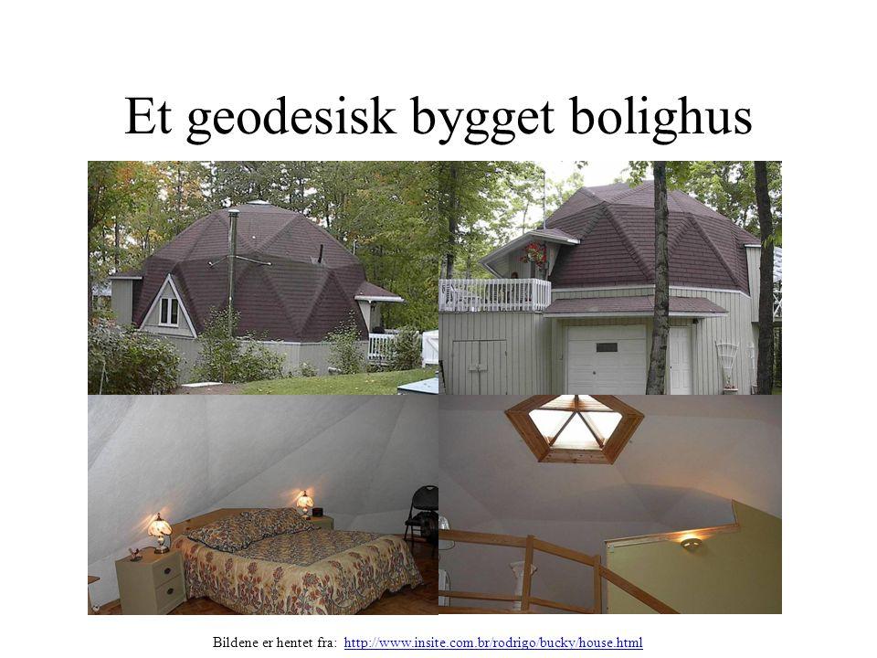 Et geodesisk bygget bolighus Bildene er hentet fra: http://www.insite.com.br/rodrigo/bucky/house.htmlhttp://www.insite.com.br/rodrigo/bucky/house.html