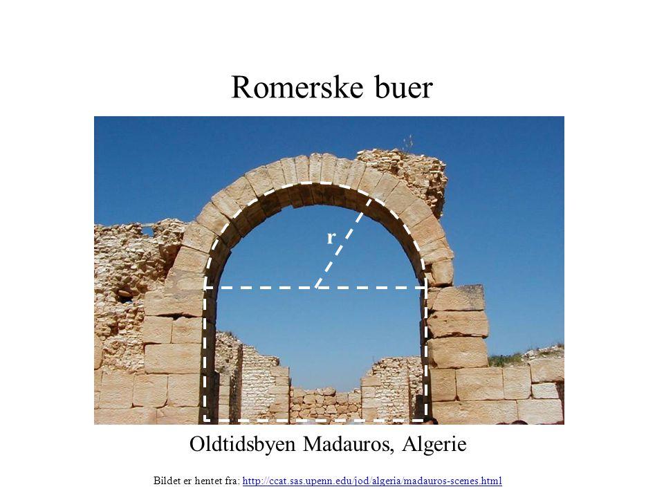 Romerske buer Oldtidsbyen Madauros, Algerie r Bildet er hentet fra: http://ccat.sas.upenn.edu/jod/algeria/madauros-scenes.htmlhttp://ccat.sas.upenn.ed