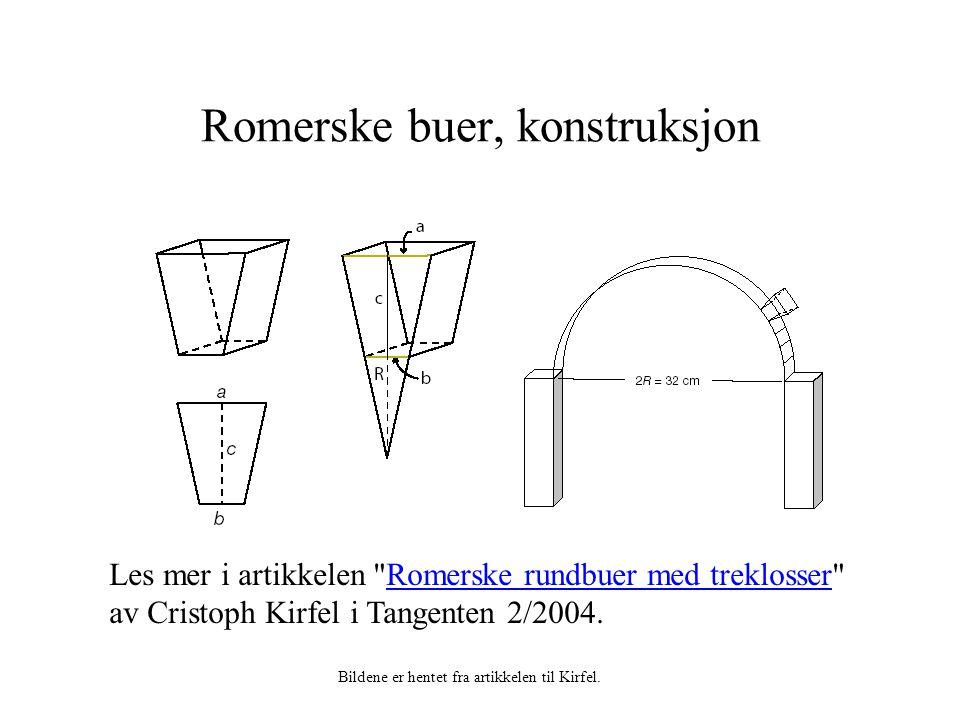 Romerske buer, konstruksjon Les mer i artikkelen