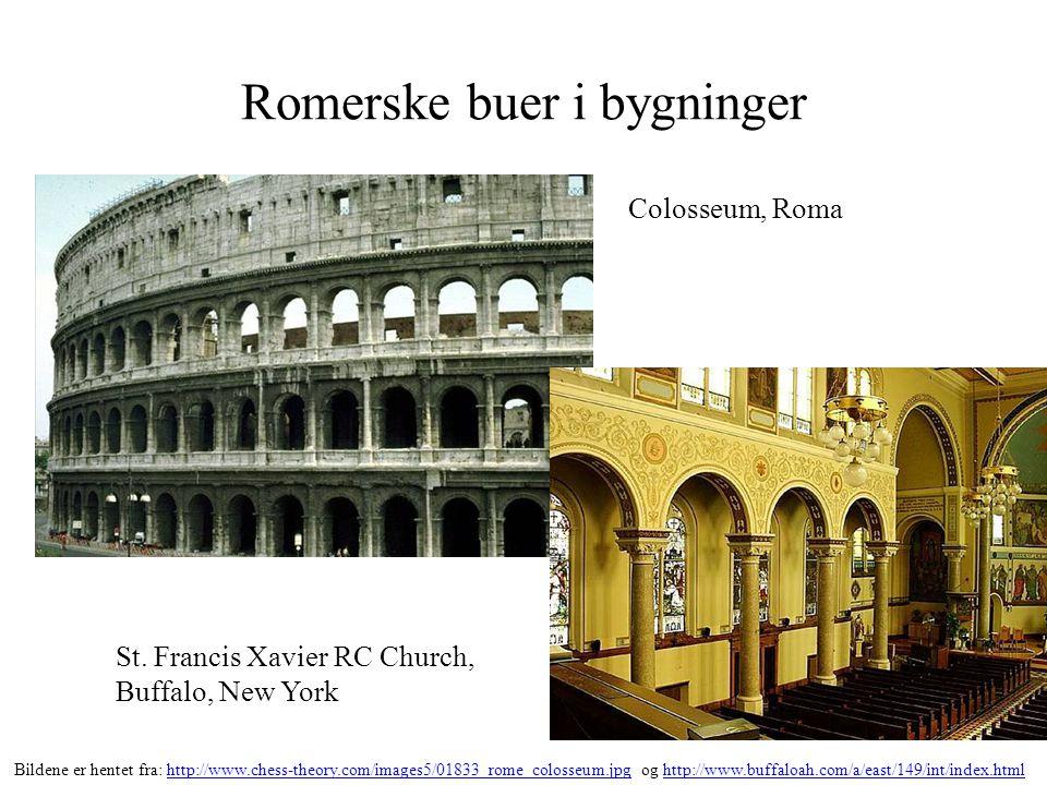 Romerske buer i bygninger Colosseum, Roma St. Francis Xavier RC Church, Buffalo, New York Bildene er hentet fra: http://www.chess-theory.com/images5/0