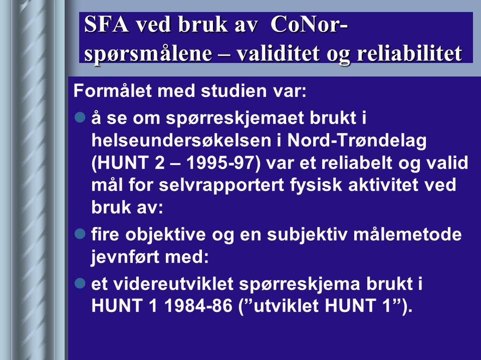 Metodeseminar Kristiansand 17.11.03 Rangul/Gundersen 13 Problemstillinger 1) Hvordan er stabiliteten på svar avgitt på spørsmål om fysisk aktivitet brukt i HUNT 2.
