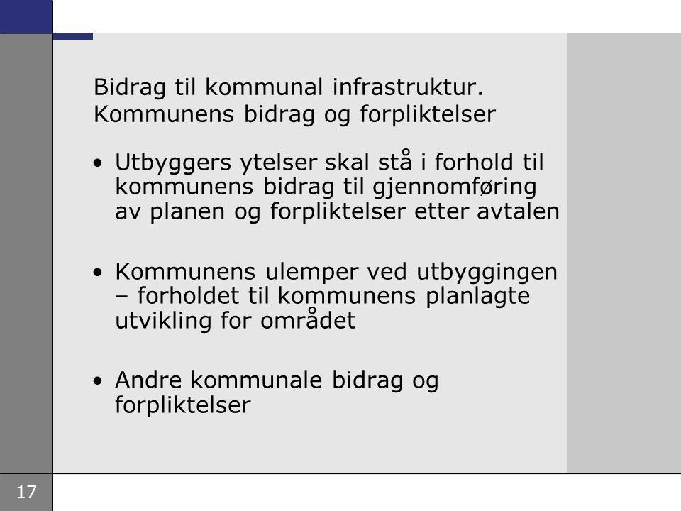 17 Bidrag til kommunal infrastruktur.