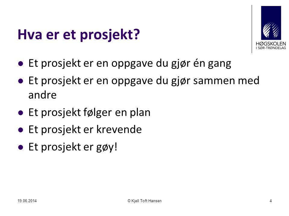 Hva er et prosjekt?  Et prosjekt er en oppgave du gjør én gang  Et prosjekt er en oppgave du gjør sammen med andre  Et prosjekt følger en plan  Et