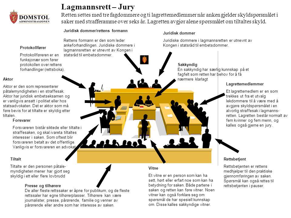 Høyesterett – Ankesaker I den enkelte sak blir retten satt med fem dommere.