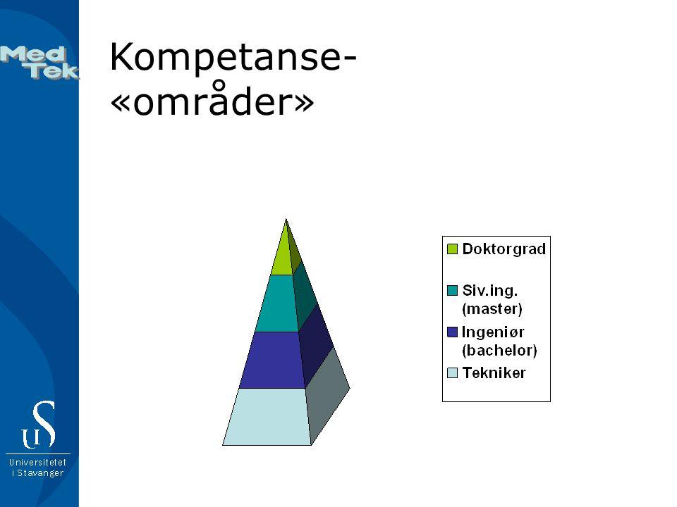 Kompetanse- «områder»