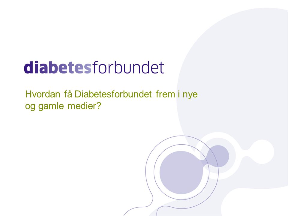 Hva er Diabetesforbundet på Facebook.
