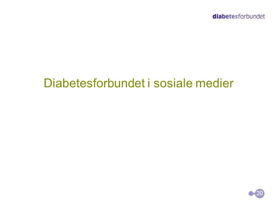 Diabetesforbundet i sosiale medier 20