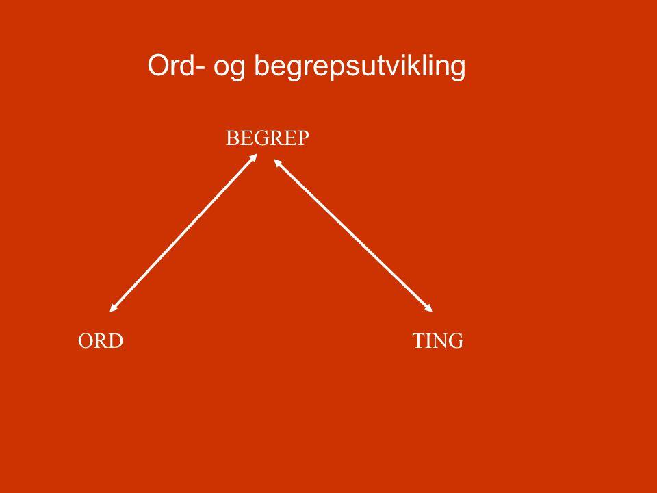 Ord- og begrepsutvikling ORDTING BEGREP