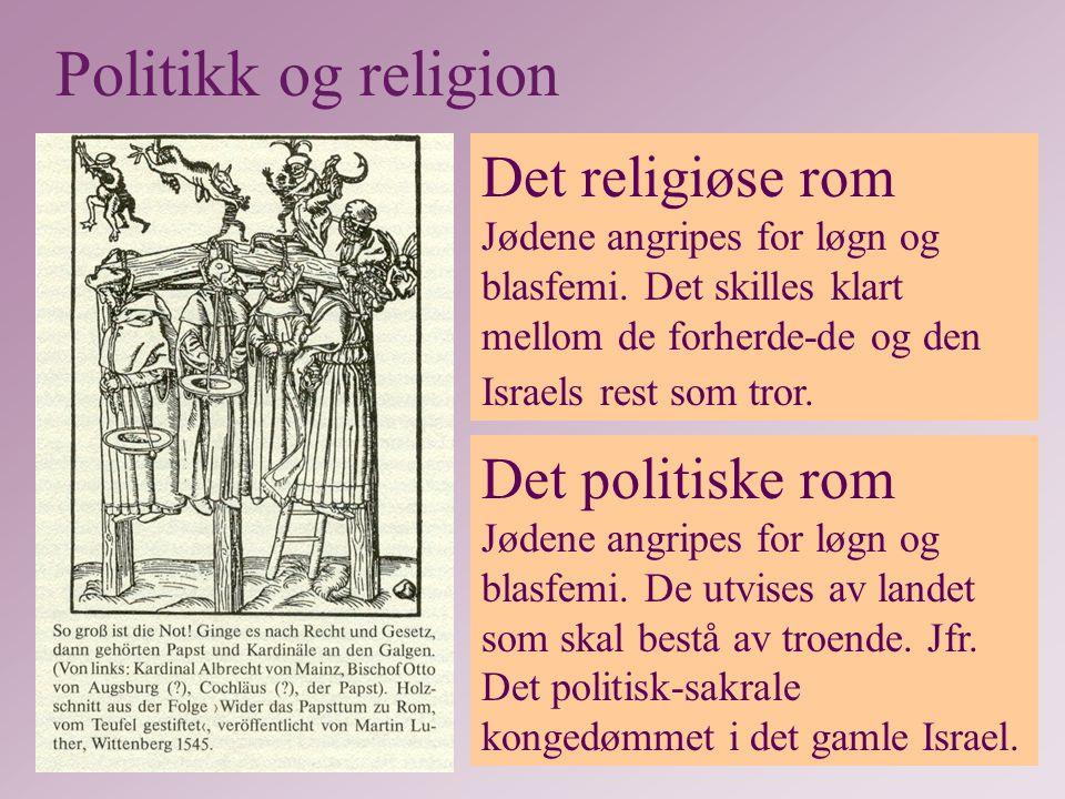 Det religiøse rom Jødene angripes for løgn og blasfemi.