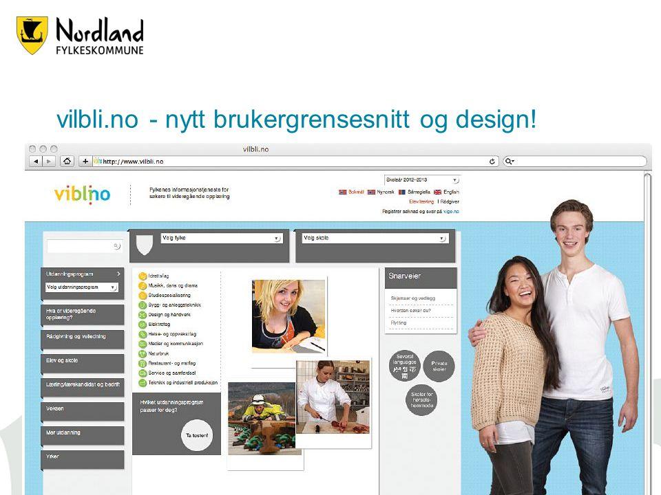 vilbli.no - nytt brukergrensesnitt og design! 19.06.201425