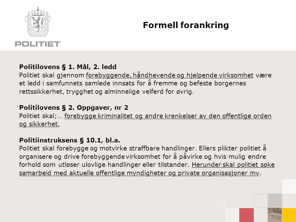 CEFU Gadedrenge – 2007 #6 Noen anbefalinger:  Klar og felles strategi fra politiets side  Mer vekt på nærpoliti  Bevar initiativet – vil du sjekke navn og ender med pågripelse.