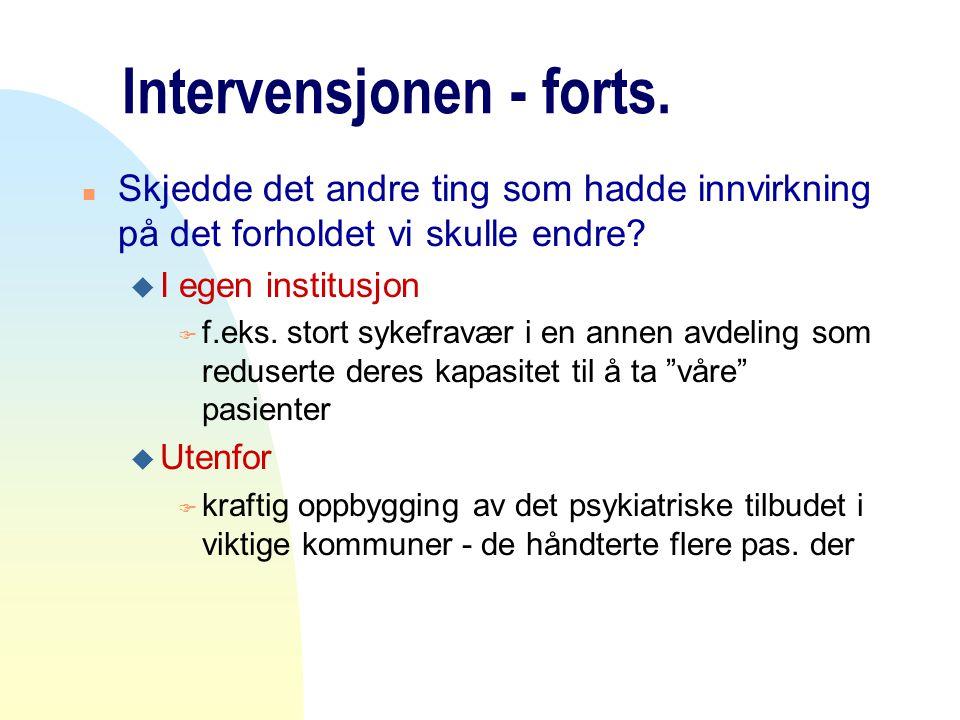 Intervensjonen - forts.