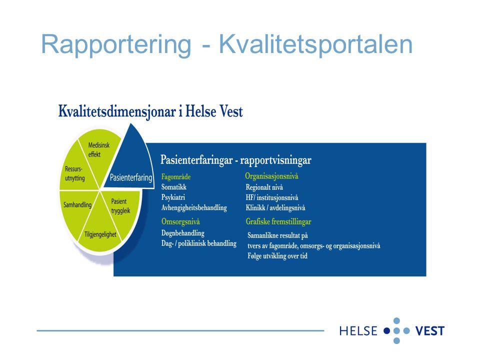 Rapportering - Kvalitetsportalen