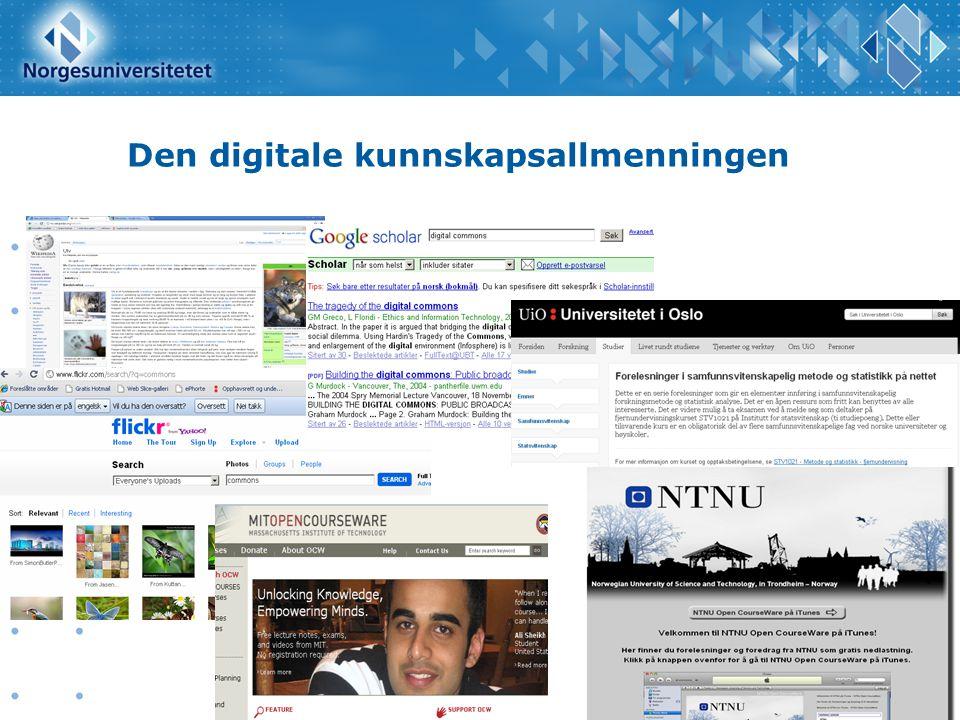 Den digitale kunnskapsallmenningen